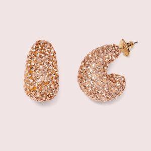 Kate Spade Clay Pavé Huggie Earrings